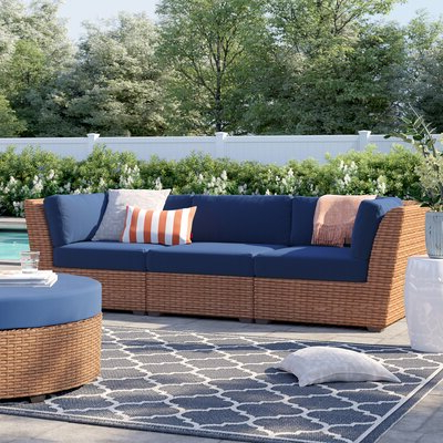 Fashionable Waterbury Curved Armless Sofa With Cushions Pertaining To Sol 72 Outdoor Waterbury Patio Sofa With Cushions Cushion (View 3 of 20)