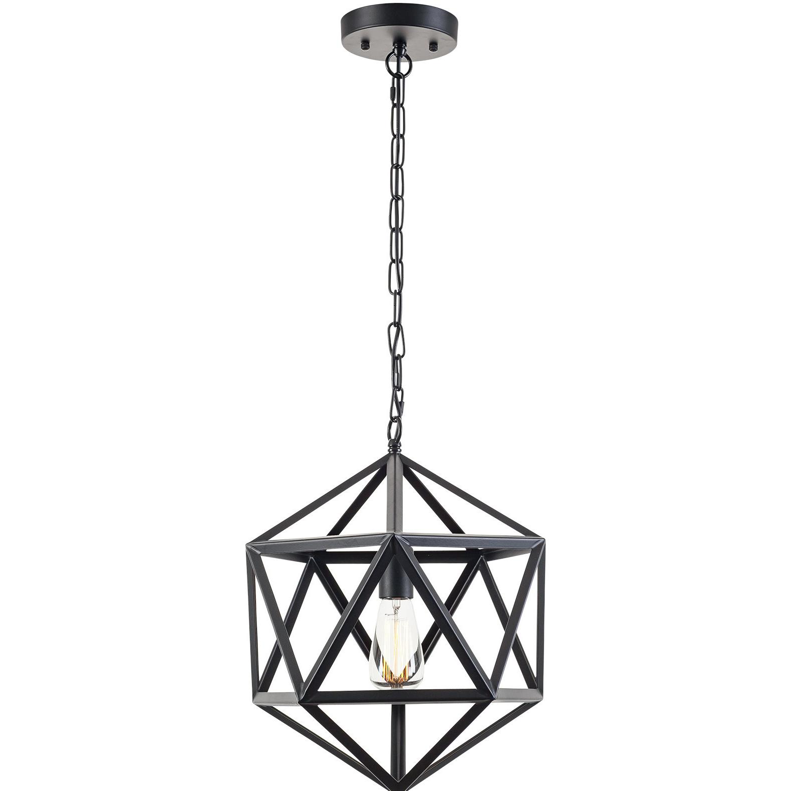 Favorite 1 Light Lantern Geometric Pendant Pertaining To Delon 1 Light Lantern Geometric Pendants (View 12 of 20)
