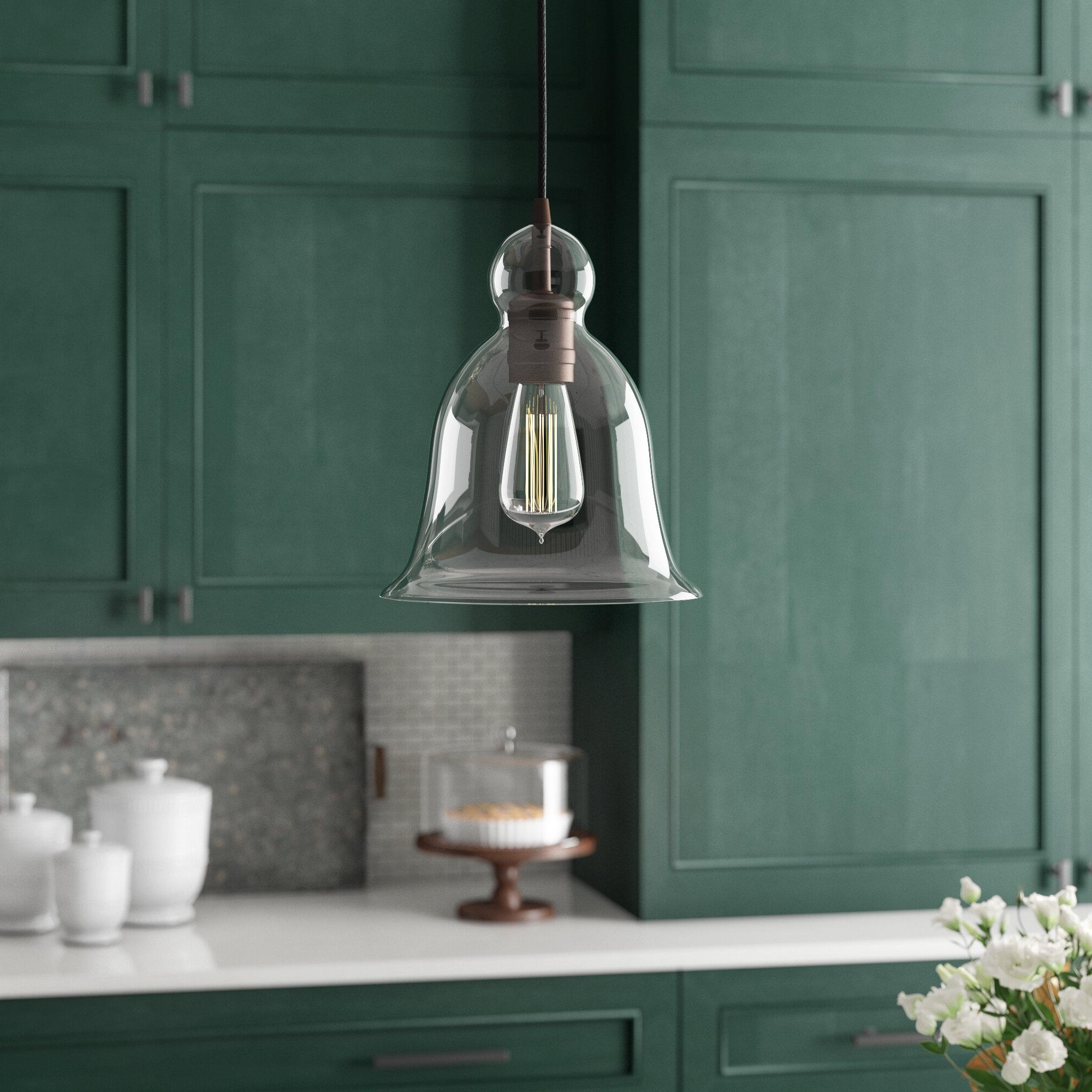 Favorite 1 Light Single Bell Pendant In Wentzville 1 Light Single Bell Pendants (Gallery 4 of 20)