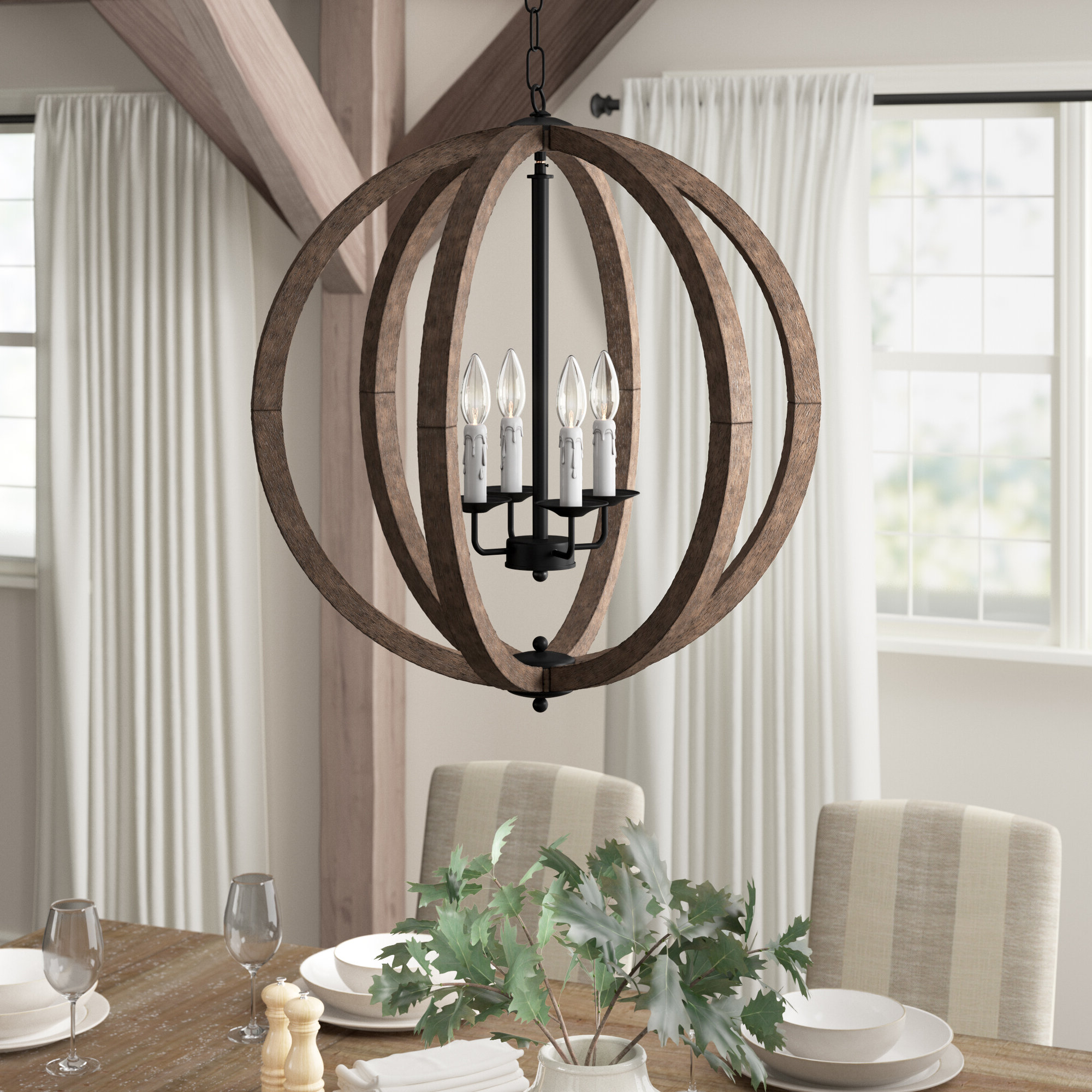 Favorite Azriel 4 Light Globe Chandelier Throughout Ricciardo 4 Light Globe Chandeliers (View 4 of 20)