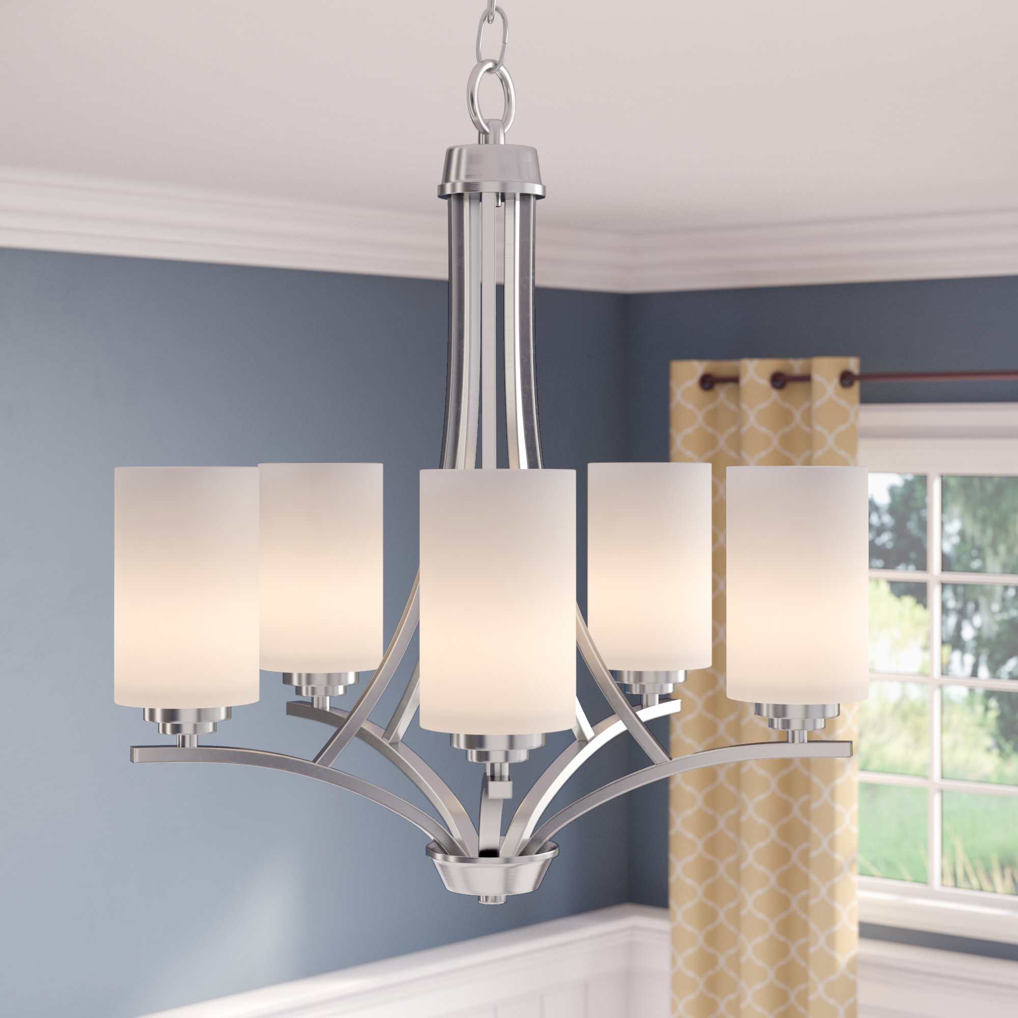Favorite Bainsby 5 Light Shaded Chandelier Pertaining To Newent 5 Light Shaded Chandeliers (Gallery 2 of 20)