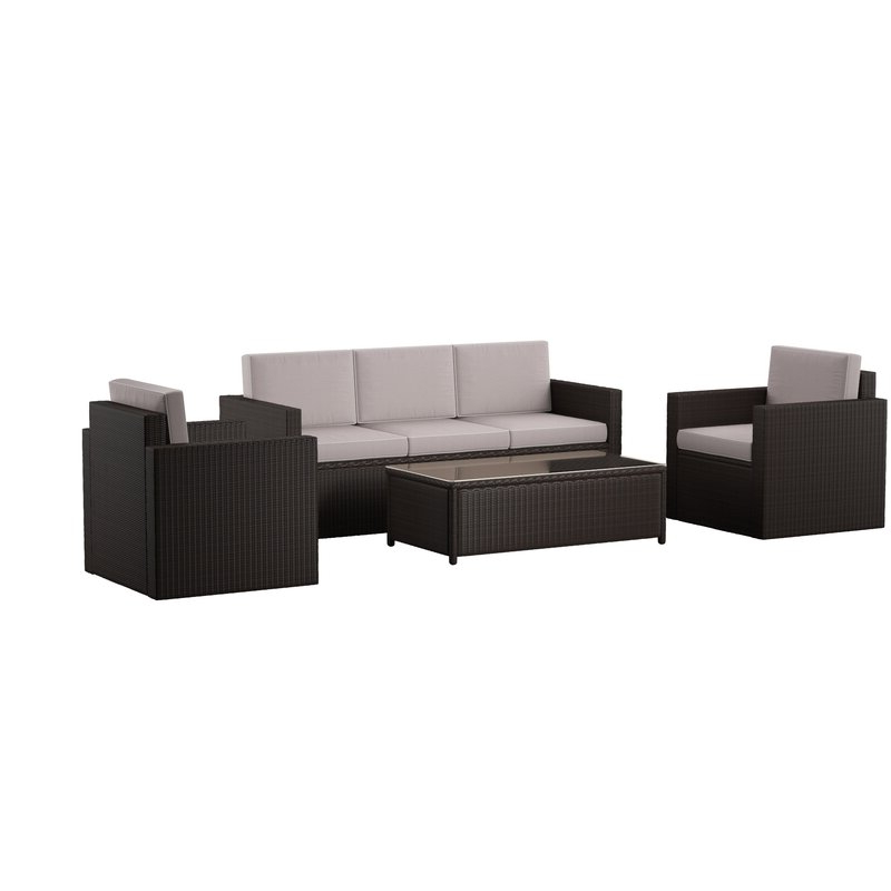 Favorite Belton 4 Piece Sofa Set With Cushions With Regard To Belton Loveseats With Cushions (View 12 of 20)