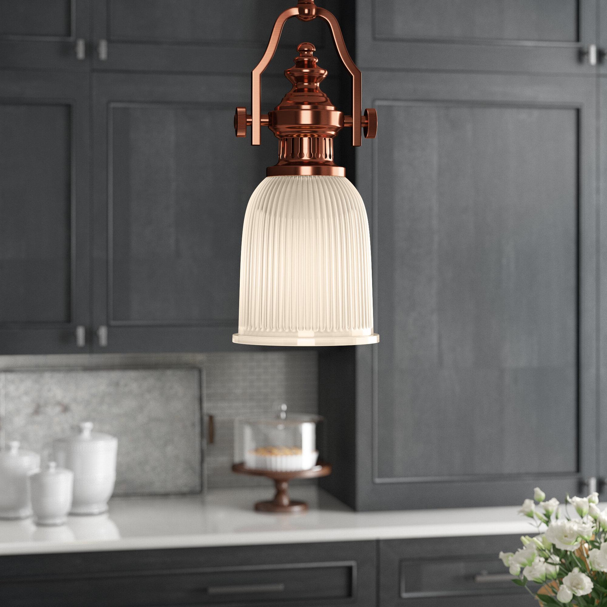 Favorite Birch Lane™ Heritage Erico 1 Light Single Bell Pendant Within Erico 1 Light Single Bell Pendants (View 11 of 20)
