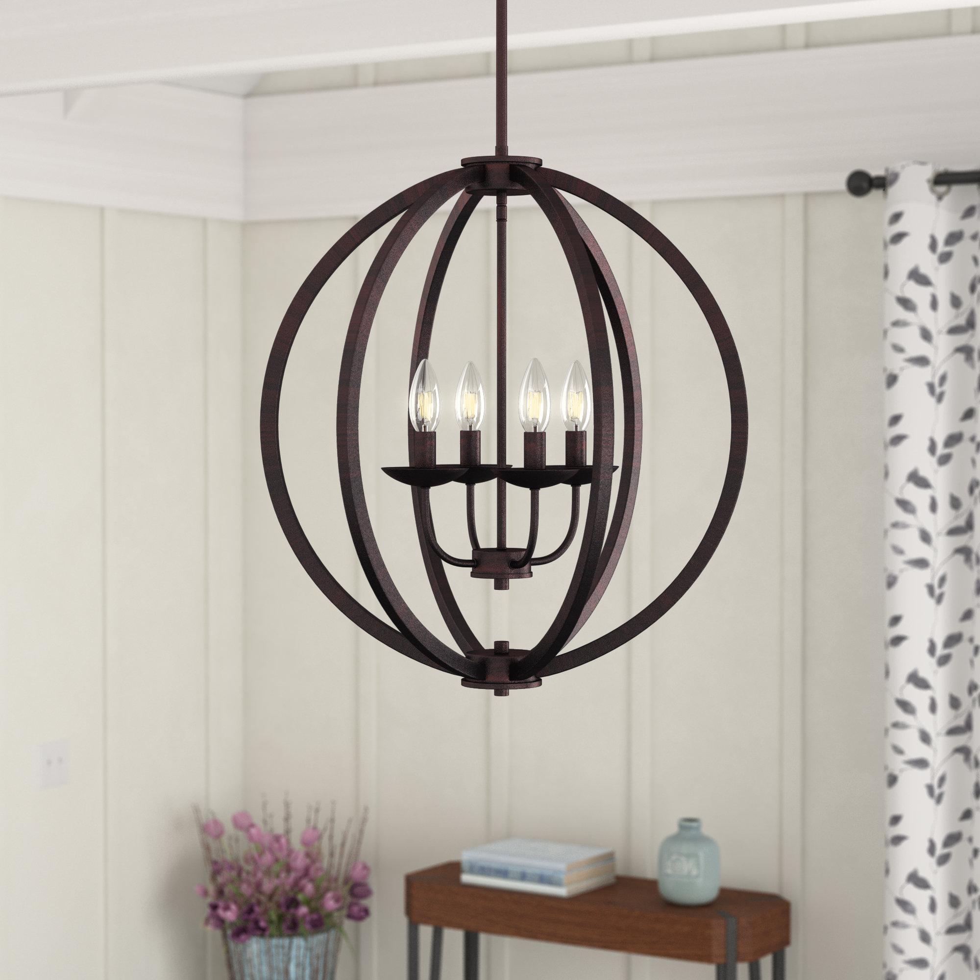 Favorite Bouvet 4 Light Globe Chandelier Within La Barge 3 Light Globe Chandeliers (Gallery 20 of 20)