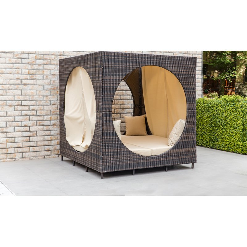 Favorite Brennon Cube Patio Daybeds With Cushions Pertaining To Chessani Cube Patio Daybed With Cushions (View 8 of 20)