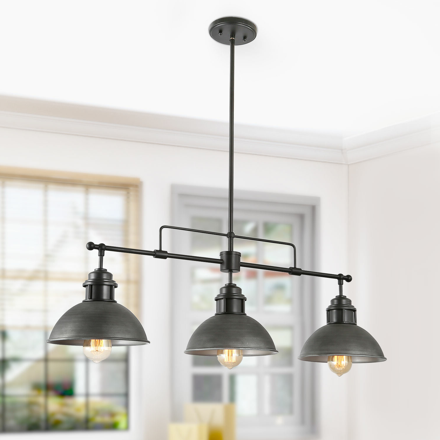 Favorite Cinchring 4 Light Kitchen Island Linear Pendants Pertaining To Melton 3 Light Kitchen Island Linear Pendant (Gallery 9 of 20)