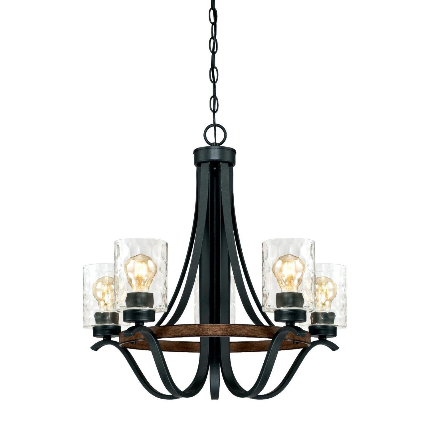 Favorite Crofoot 5 Light Shaded Chandeliers Intended For Sabo Indoor 5 Light Shaded Chandelier (View 9 of 20)