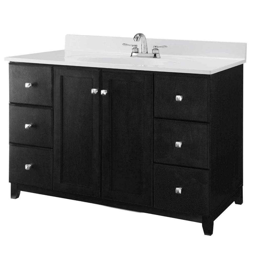 Favorite Design House Shorewood 36 In W X 21 In D 2Dr 2Dwr Vanity In With Fugate 2 Door Credenzas (View 7 of 20)