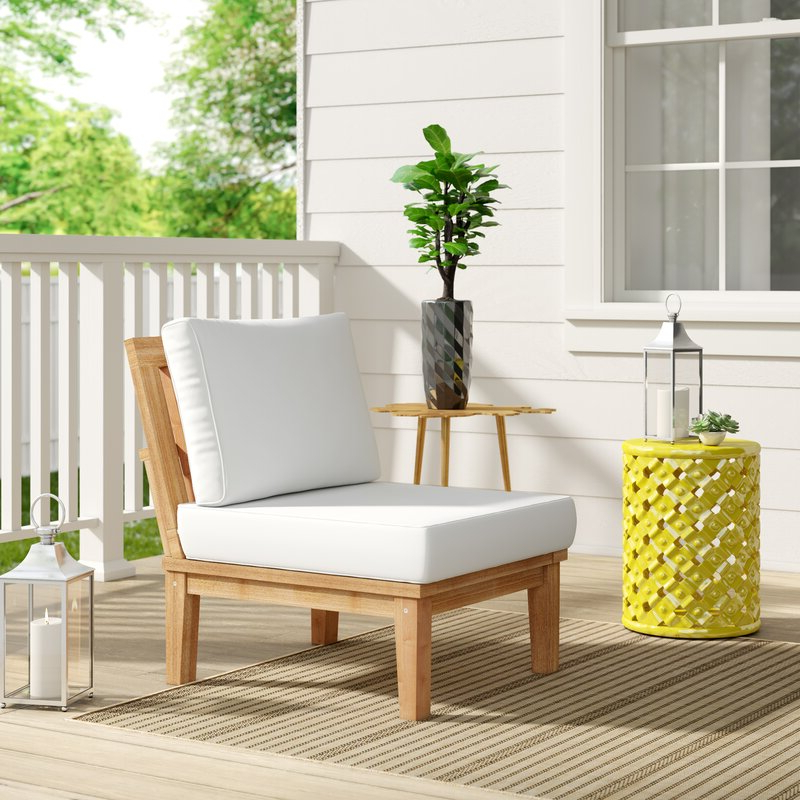 Favorite Elaina Teak Loveseats With Cushions For Elaina Teak Patio Chair With Cushions (View 16 of 20)