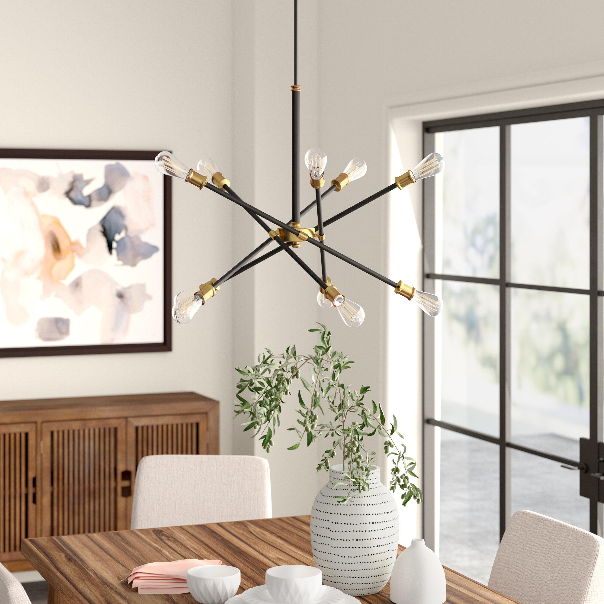 Favorite Everett 10 Light Sputnik Chandeliers Inside Everett 10 Light Sputnik Chandelier (View 3 of 20)
