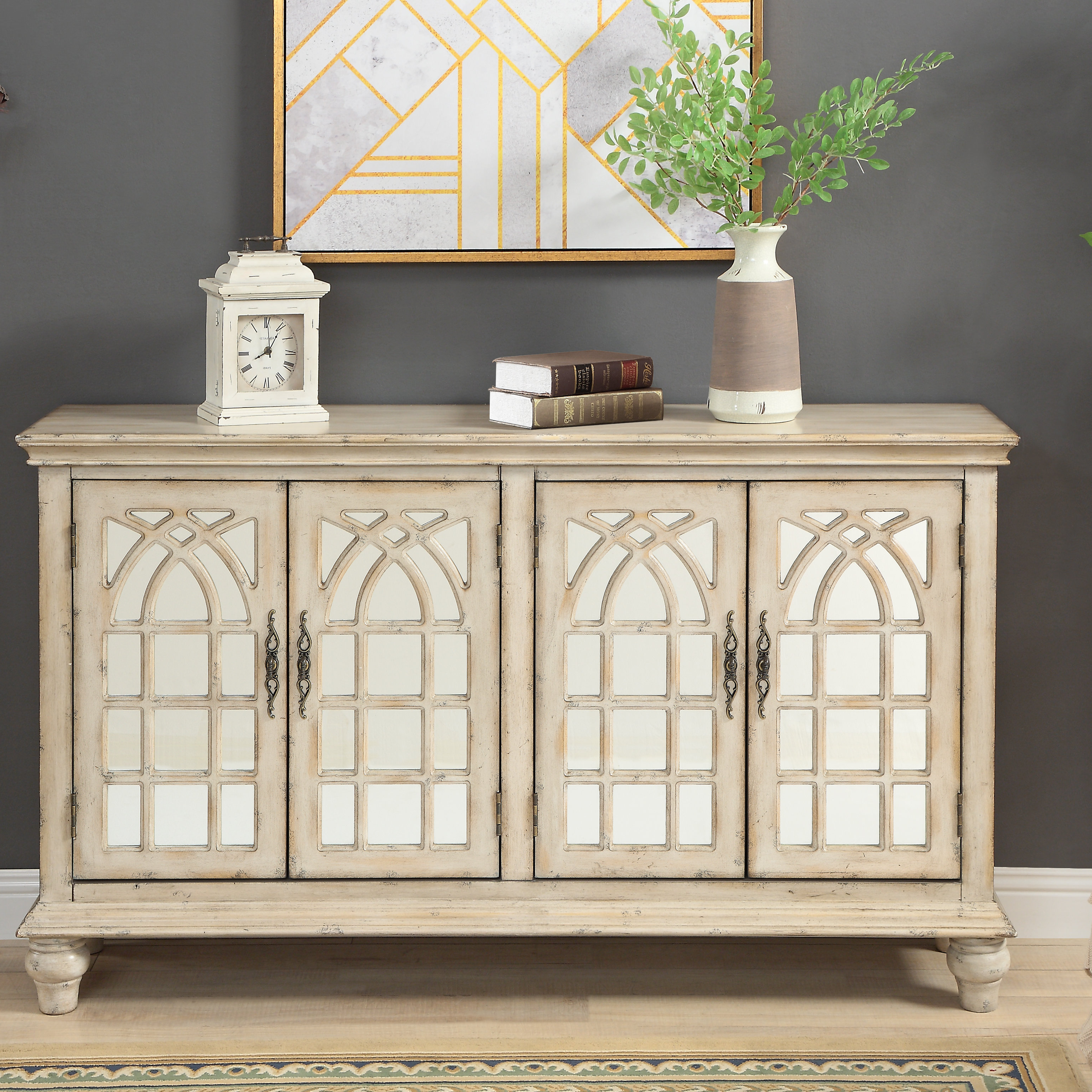 Favorite Farmhouse & Rustic One Allium Way Sideboards & Buffets Within Fugate 2 Door Credenzas (Gallery 6 of 20)
