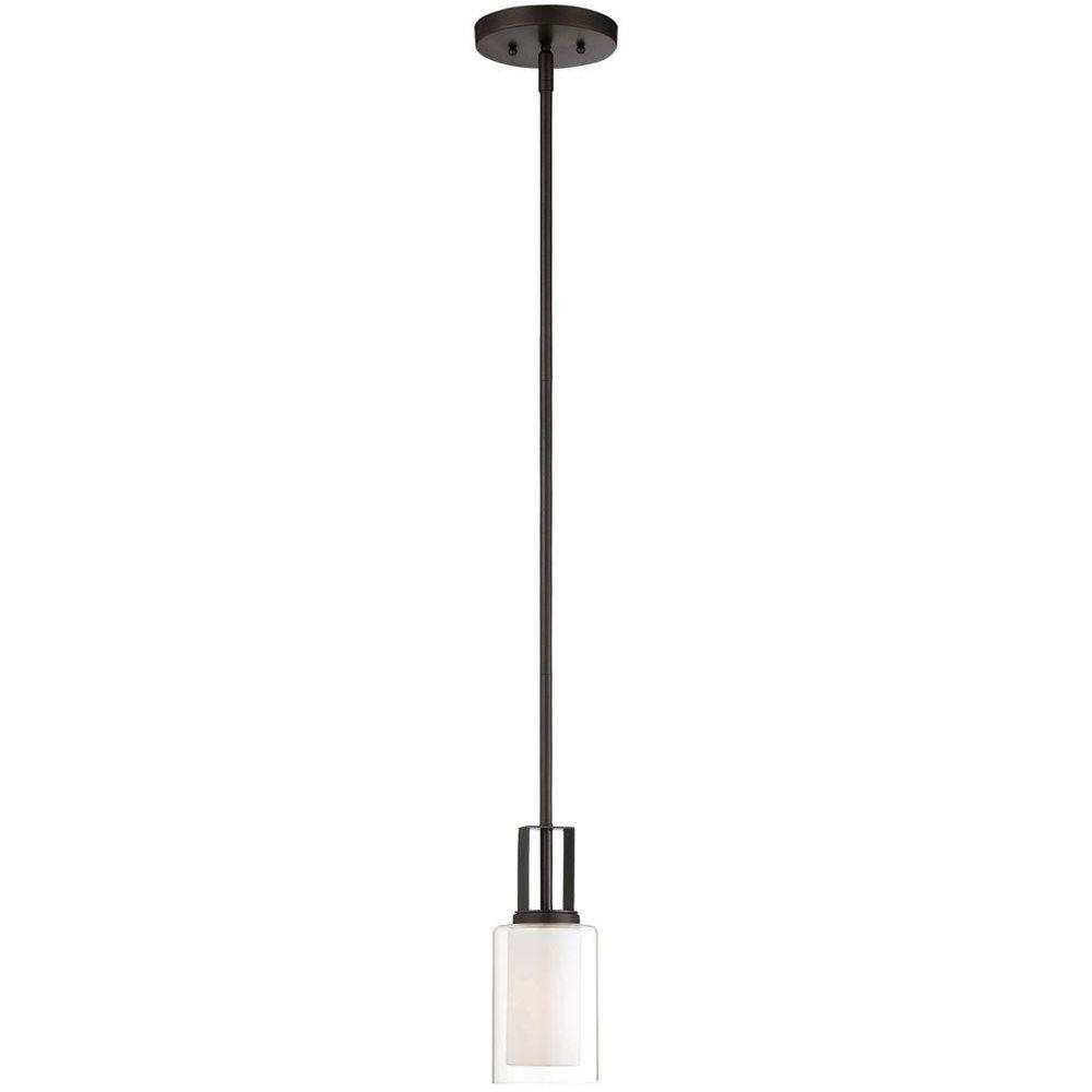 Favorite Finnick 1 Light Geometric Pendants Intended For Island – Pendant Lights – Lighting – The Home Depot (View 4 of 20)