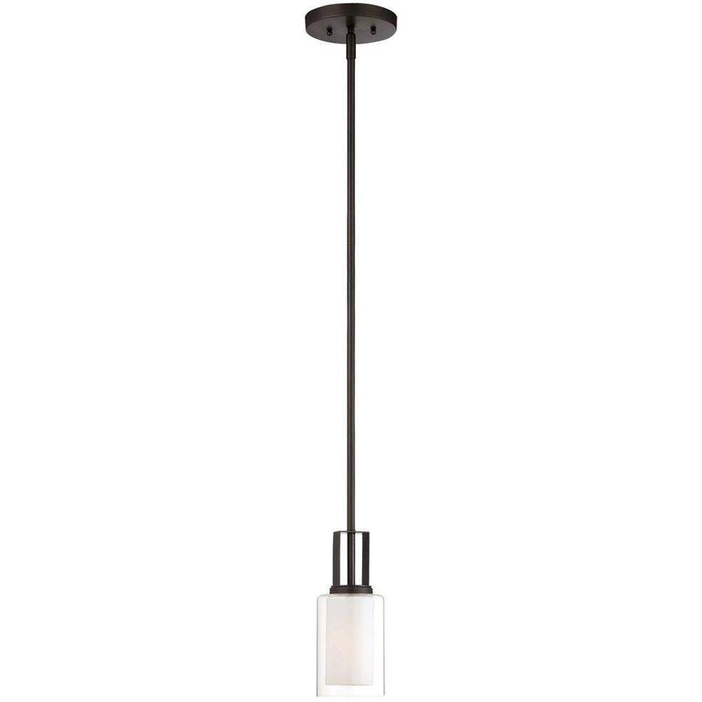 Favorite Finnick 1 Light Geometric Pendants Intended For Island – Pendant Lights – Lighting – The Home Depot (View 4 of 20)