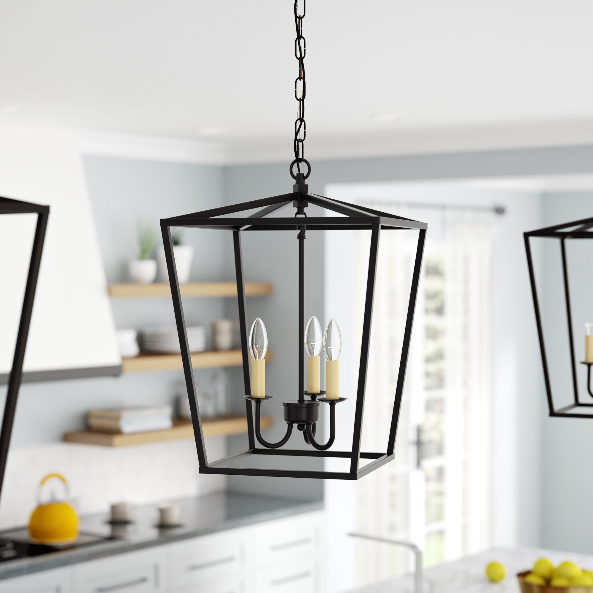 Favorite Finnick 4 Light Foyer Pendants Regarding Andover Mills Finnick 3 Light Lantern Pendant & Reviews (View 5 of 20)