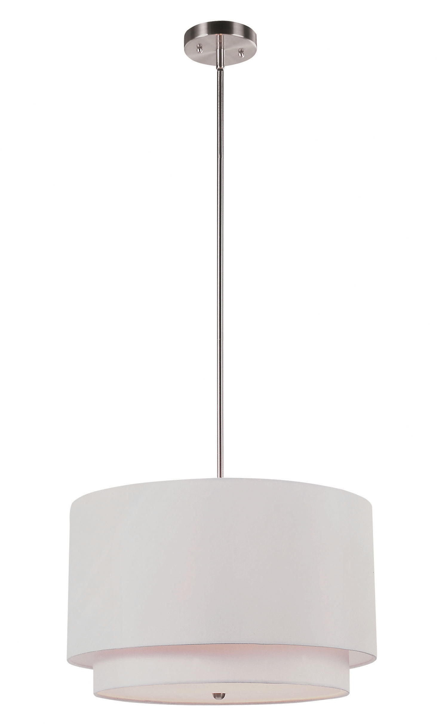 Featured Photo of Friedland 3 Light Drum Tiered Pendants