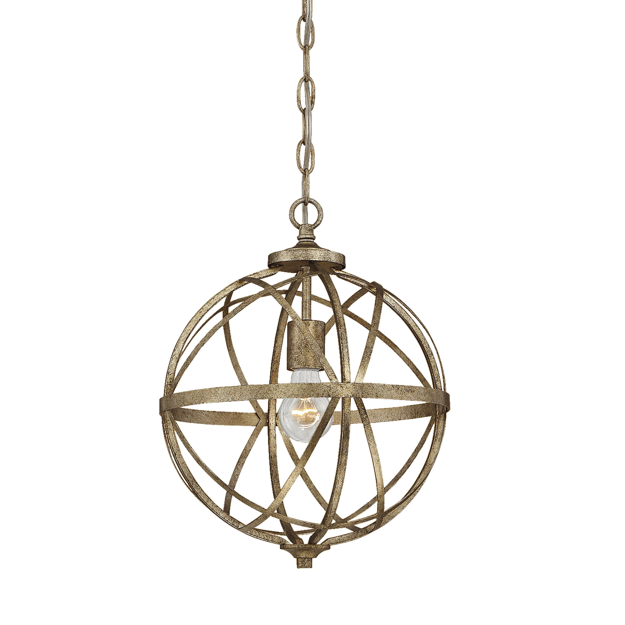 Favorite Irwin 1 Light Single Globe Pendants In Rodden 1 Light Single Globe Pendant (View 4 of 20)