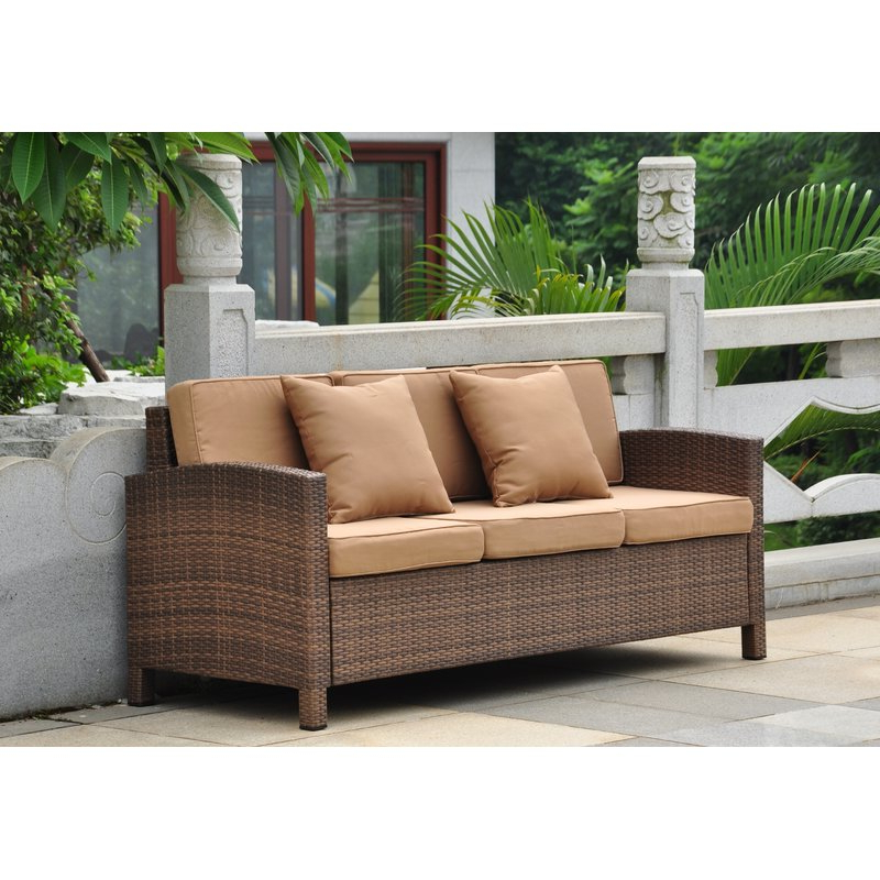 Favorite Katzer Patio Sofas With Cushions Throughout Katzer Patio Sofa With Cushions (Gallery 2 of 20)