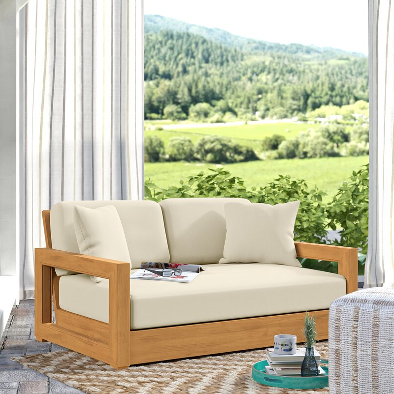 Favorite Lakeland Teak Loveseat With Cushions With Regard To Summerton Teak Loveseats With Cushions (View 7 of 20)