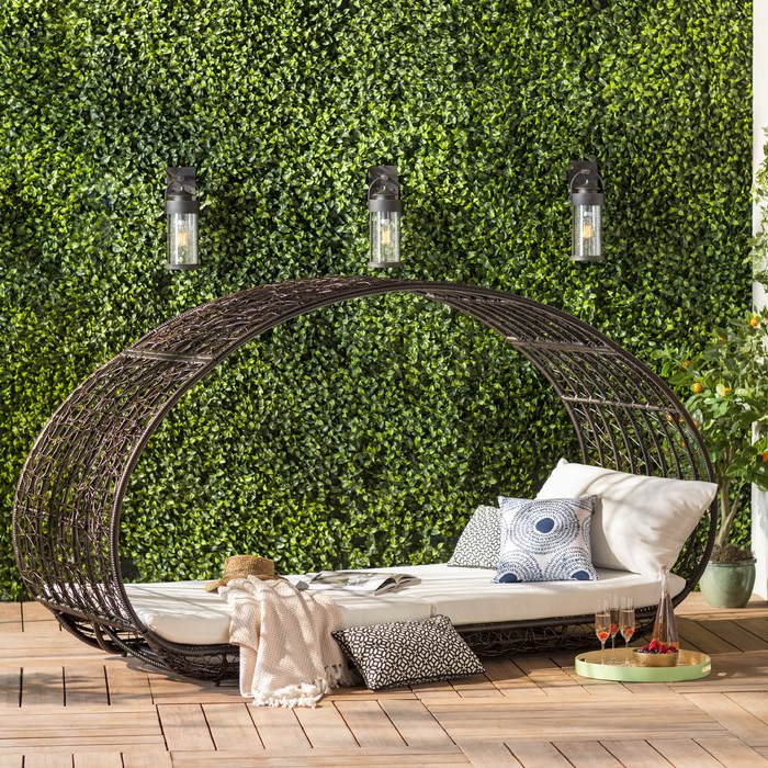 Favorite Lavina Outdoor Patio Daybeds With Cushions Regarding Lavina Outdoor Patio Daybed With Cushions (Gallery 5 of 20)