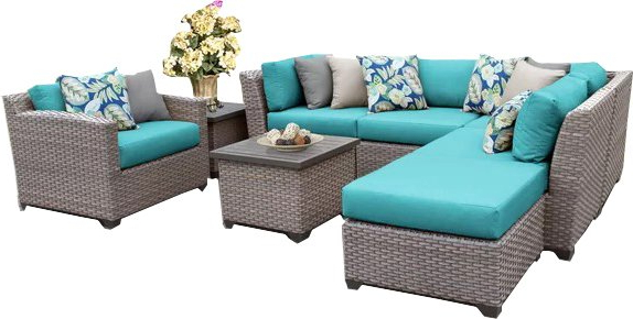 Favorite Meeks Patio Sofas With Cushions With Rosecliff Heights Meeks 9 Piece Sectional Seating Group With Cushions (Gallery 18 of 20)