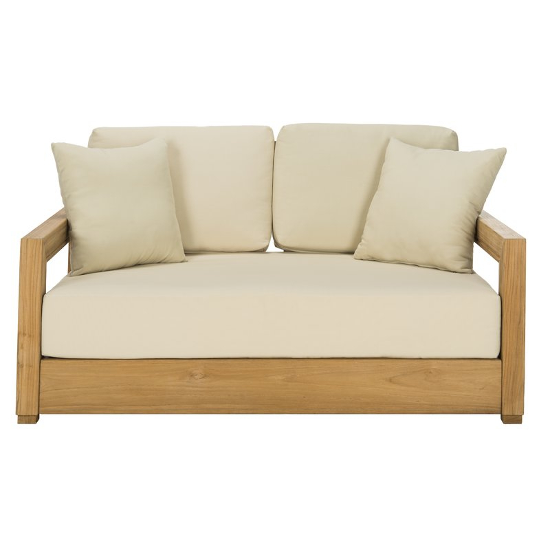 Favorite Montford Teak Loveseats With Cushions With Regard To Montford Teak Loveseat With Cushions (View 8 of 20)
