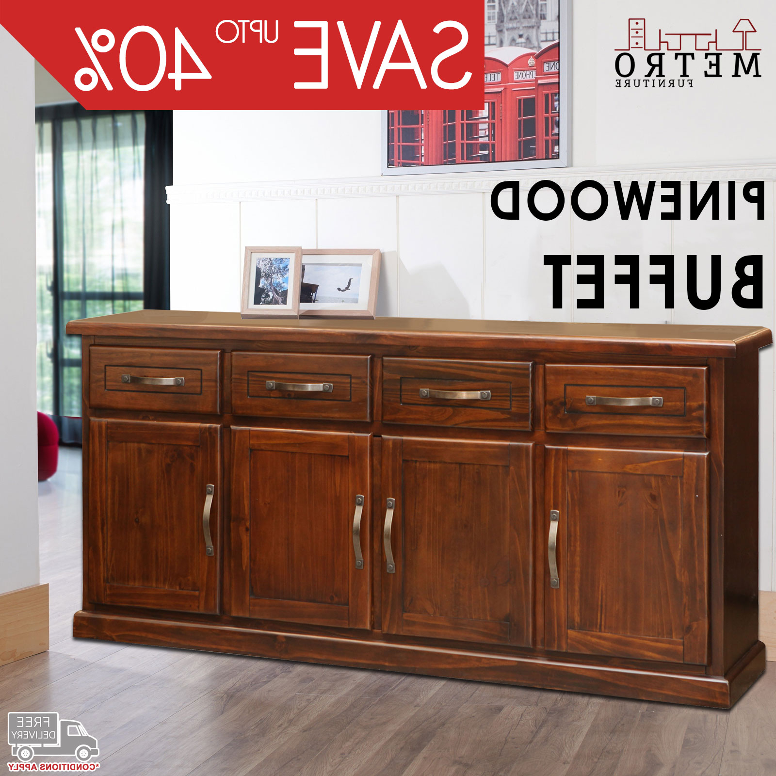 Favorite New Modern Traditional Buffet Sideboard Table With Cabinets Pertaining To Metro Sideboards (View 5 of 20)