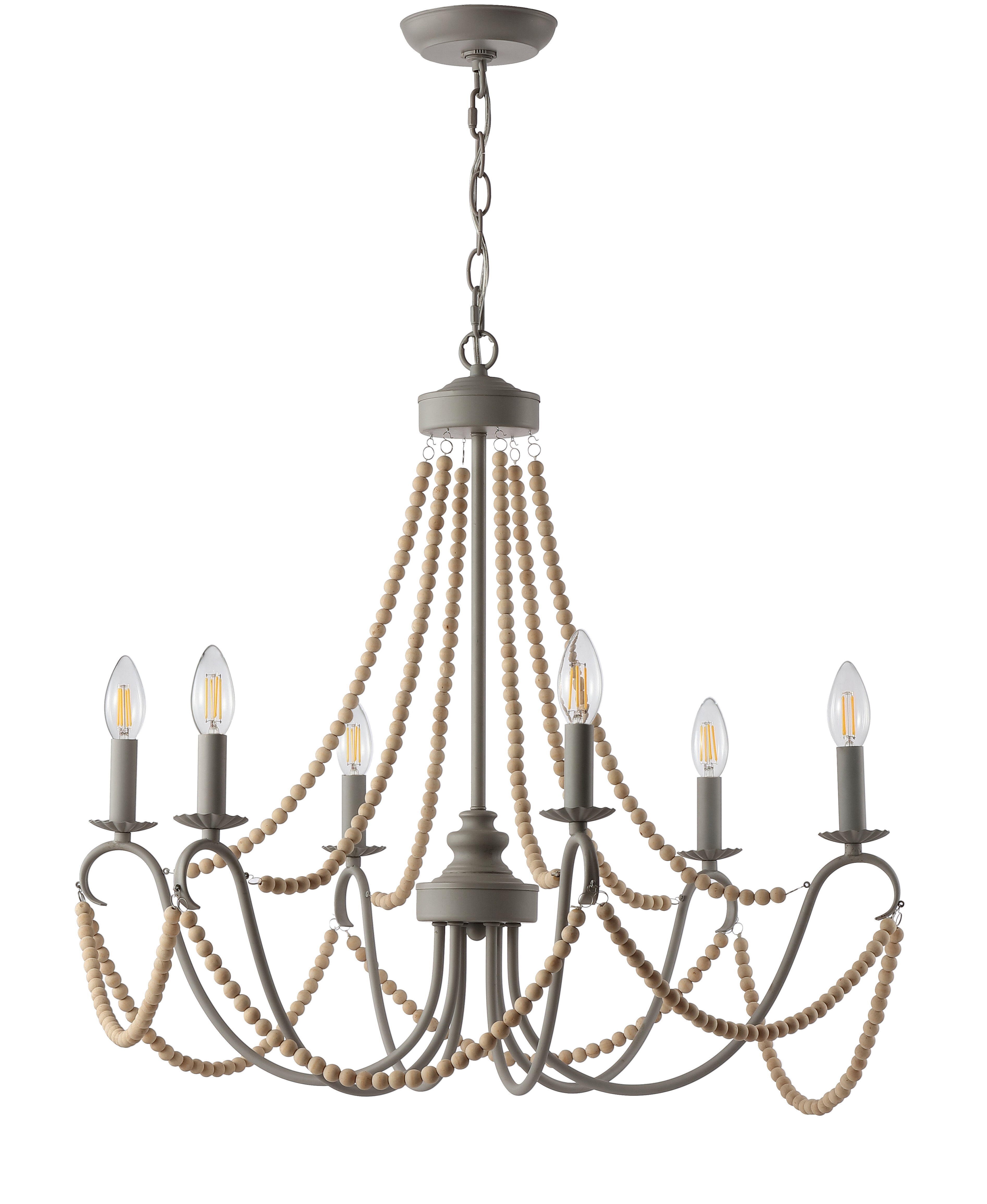 Favorite One Allium Way Carnes 6 Light Candle Style Chandelier Throughout Diaz 6 Light Candle Style Chandeliers (View 9 of 20)