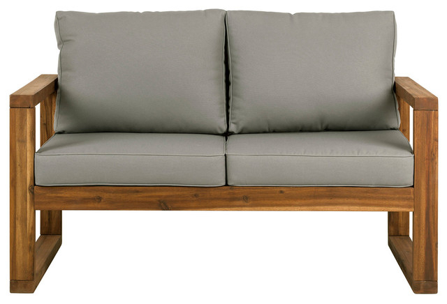 Favorite Open Side Love Seat With Cushions, Brown Regarding Baltic Loveseats With Cushions (View 6 of 20)