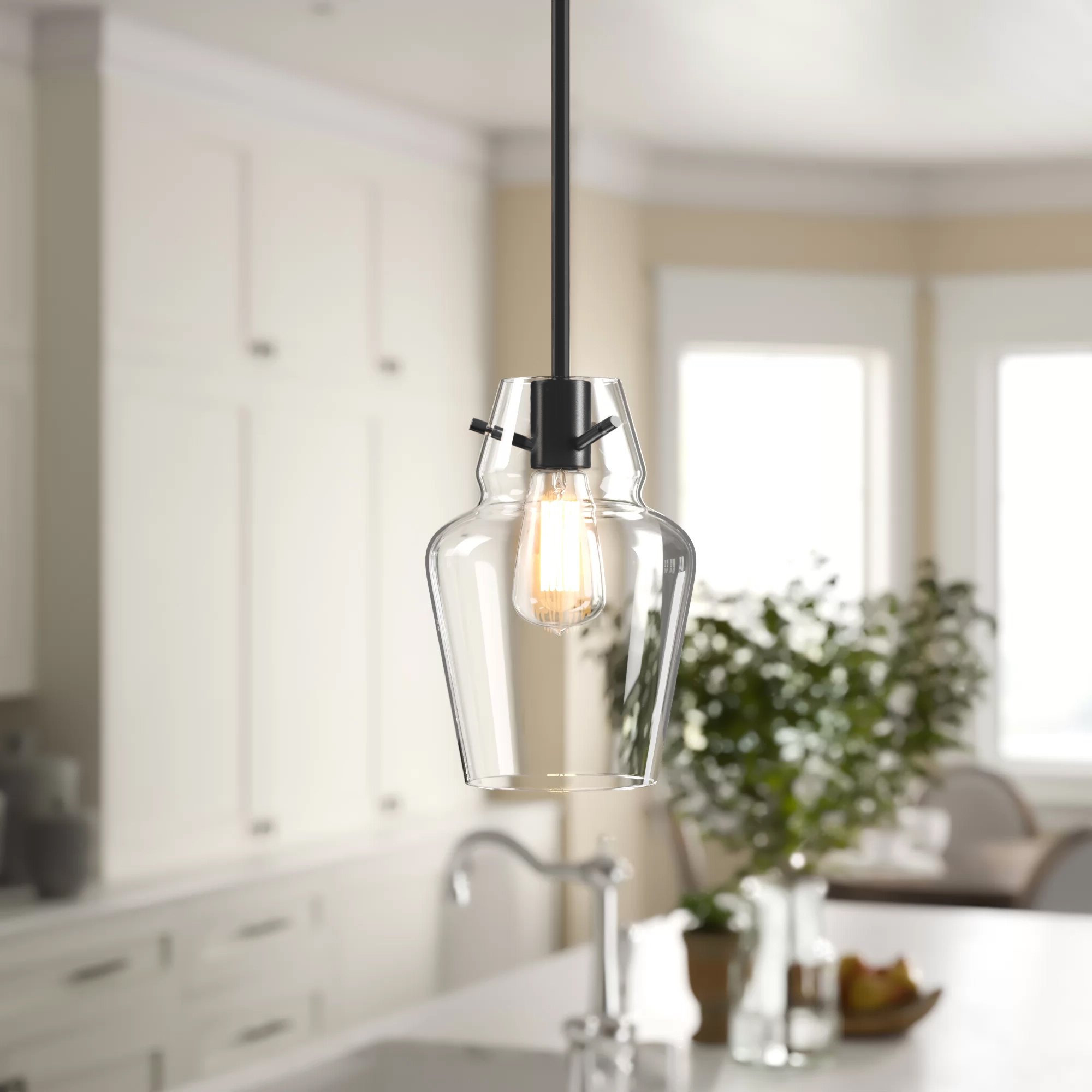 Favorite Roslindale 1 Light Bell Pendant Regarding Clematite 1 Light Single Jar Pendants (View 17 of 20)