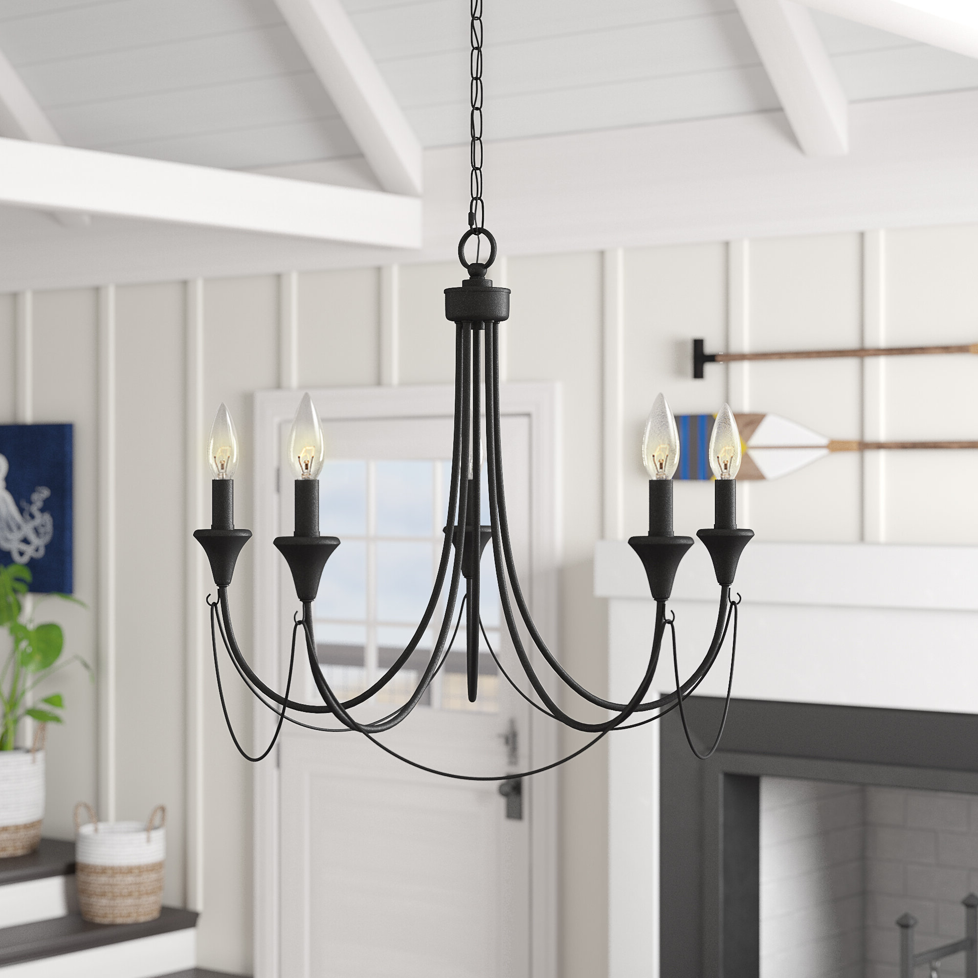 Favorite Shaylee 5 Light Candle Style Chandeliers Pertaining To Walczak 5 Light Candle Style Chandelier (Gallery 10 of 20)