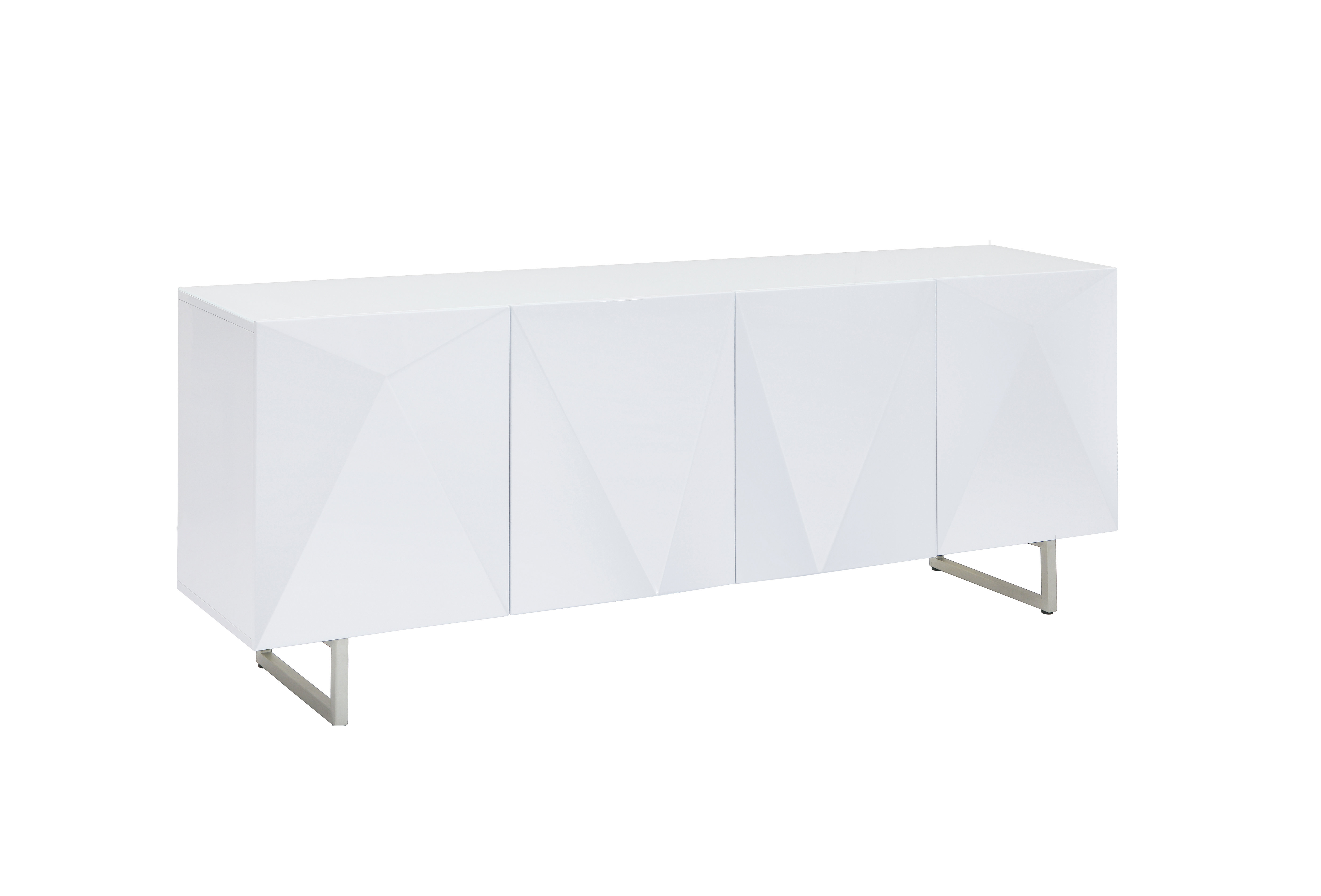 Favorite Thite Sideboards Pertaining To Modern & Contemporary High Gloss White Buffet (Gallery 3 of 20)