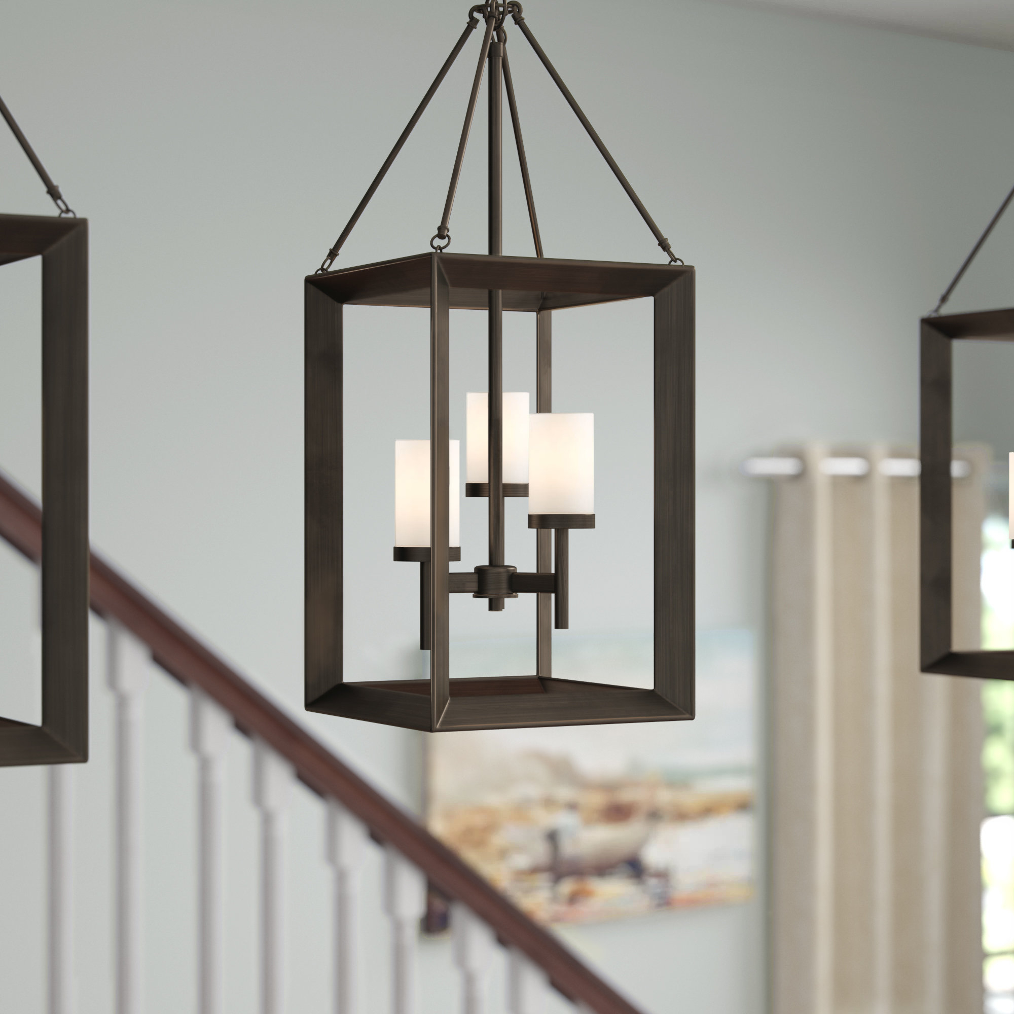 Favorite Thorne 6 Light Lantern Square / Rectangle Pendants With Regard To Thorne 3 Light Lantern Square Pendant (View 3 of 20)