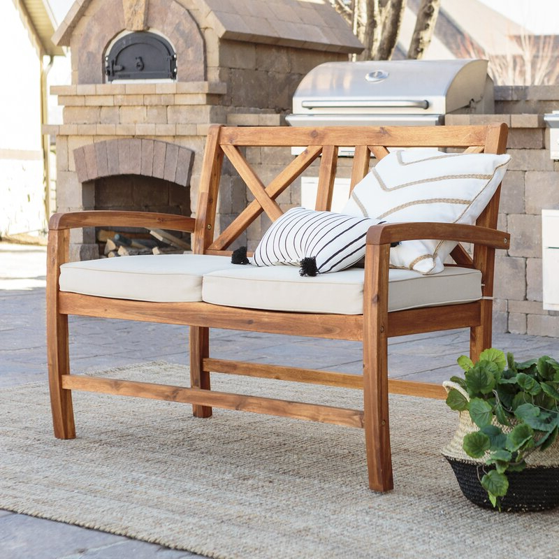 Favorite Tim X Back Patio Loveseat With Cushions With Tim X Back Patio Loveseats With Cushions (View 7 of 20)