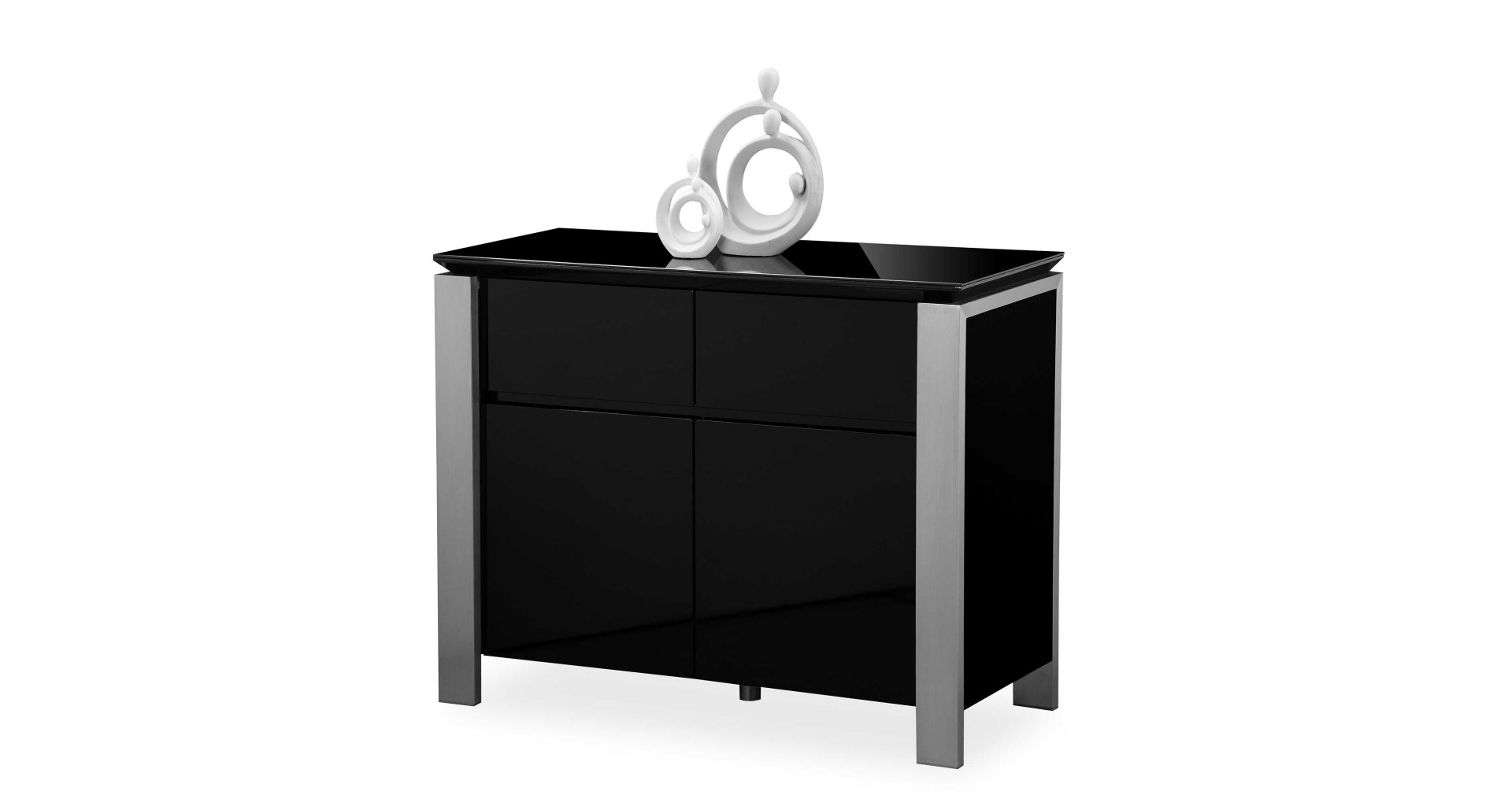 Favorite Tribeca Sideboards With Tribeca – Small Sideboard – Black High Gloss (View 6 of 20)