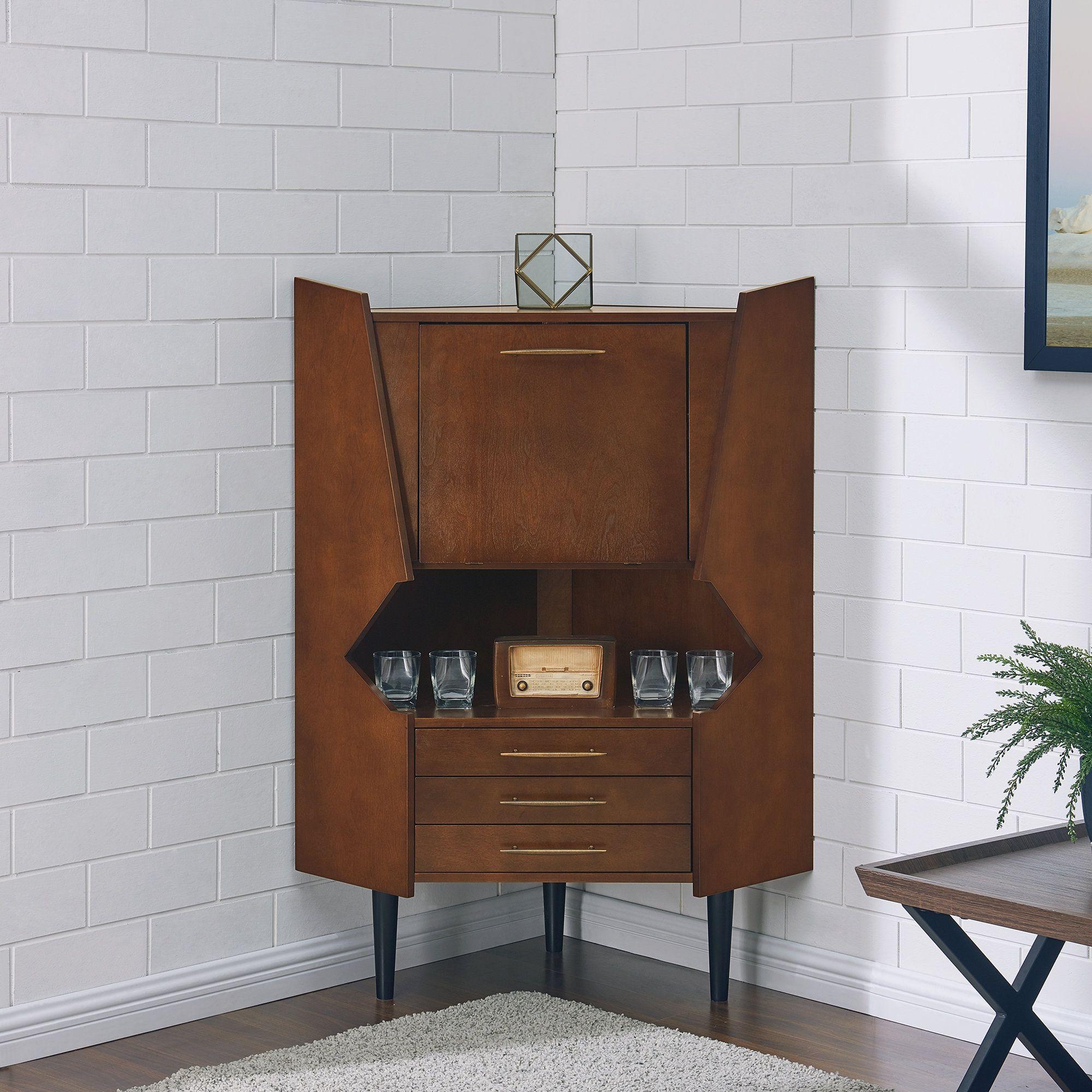 Favorite Wrought Studio Hester Corner Bar Cabinet In 2019 (Gallery 20 of 20)