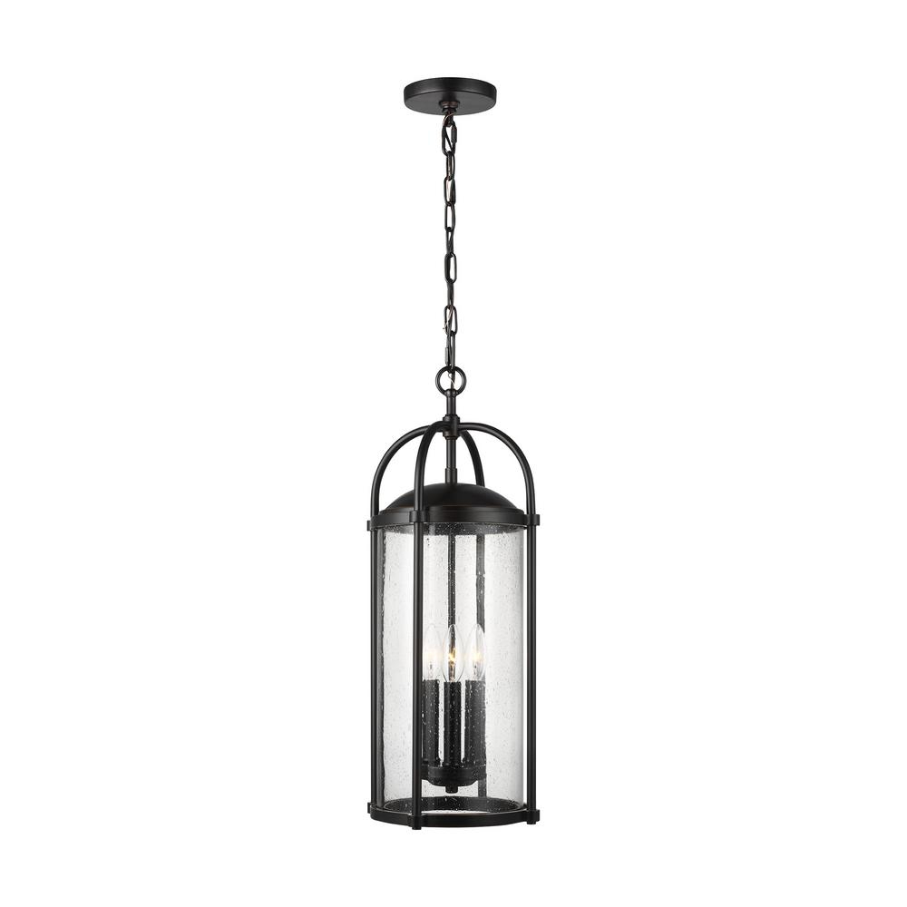 Feiss Dakota Espresso 3 Light Hanging Lantern For Newest 3 Light Lantern Cylinder Pendants (View 10 of 20)