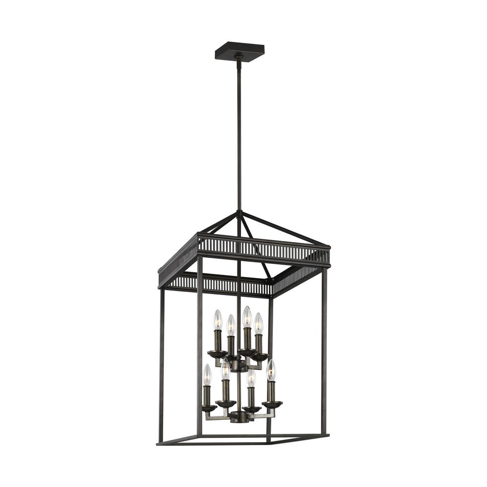 Feiss Woodruff 31 In. H 8 Light Antique Bronze Multi Tier Chandelier Throughout Most Popular Hewitt 4 Light Square Chandeliers (Gallery 19 of 20)