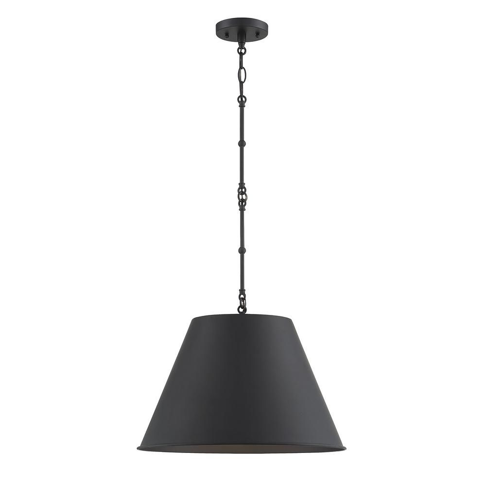 Filament Design 1 Light Matte Black Pendant In 2019 Regarding Well Liked Nadeau 1 Light Single Cone Pendants (View 4 of 20)