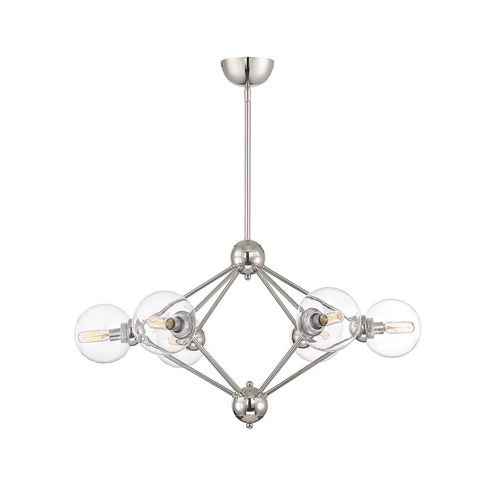 Filament Design 6 Light Polished Nickel Chandelier In 2019 Intended For Well Known Eladia 6 Light Sputnik Chandeliers (View 14 of 20)
