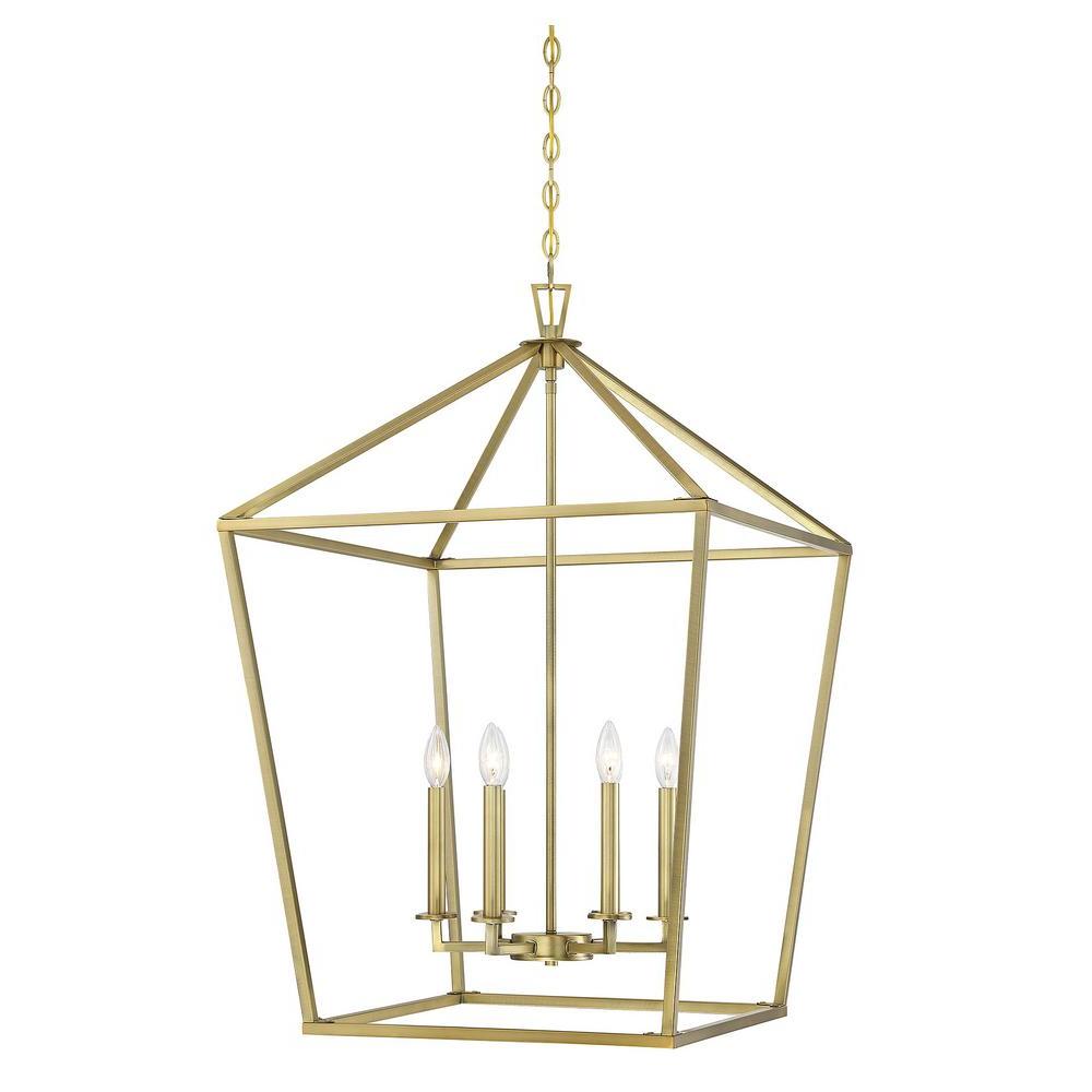 Filament Design 6 Light Warm Brass Pendant Cli Sh278129 Throughout 2020 Isoline 2 Light Lantern Geometric Pendants (View 3 of 20)