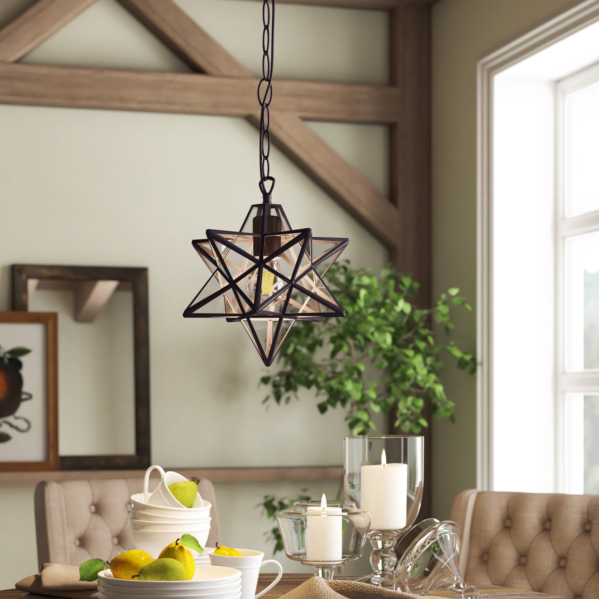 Finnick 1 Light Geometric Pendants In Most Recent Sture 1 Light Geometric Pendant (View 7 of 20)