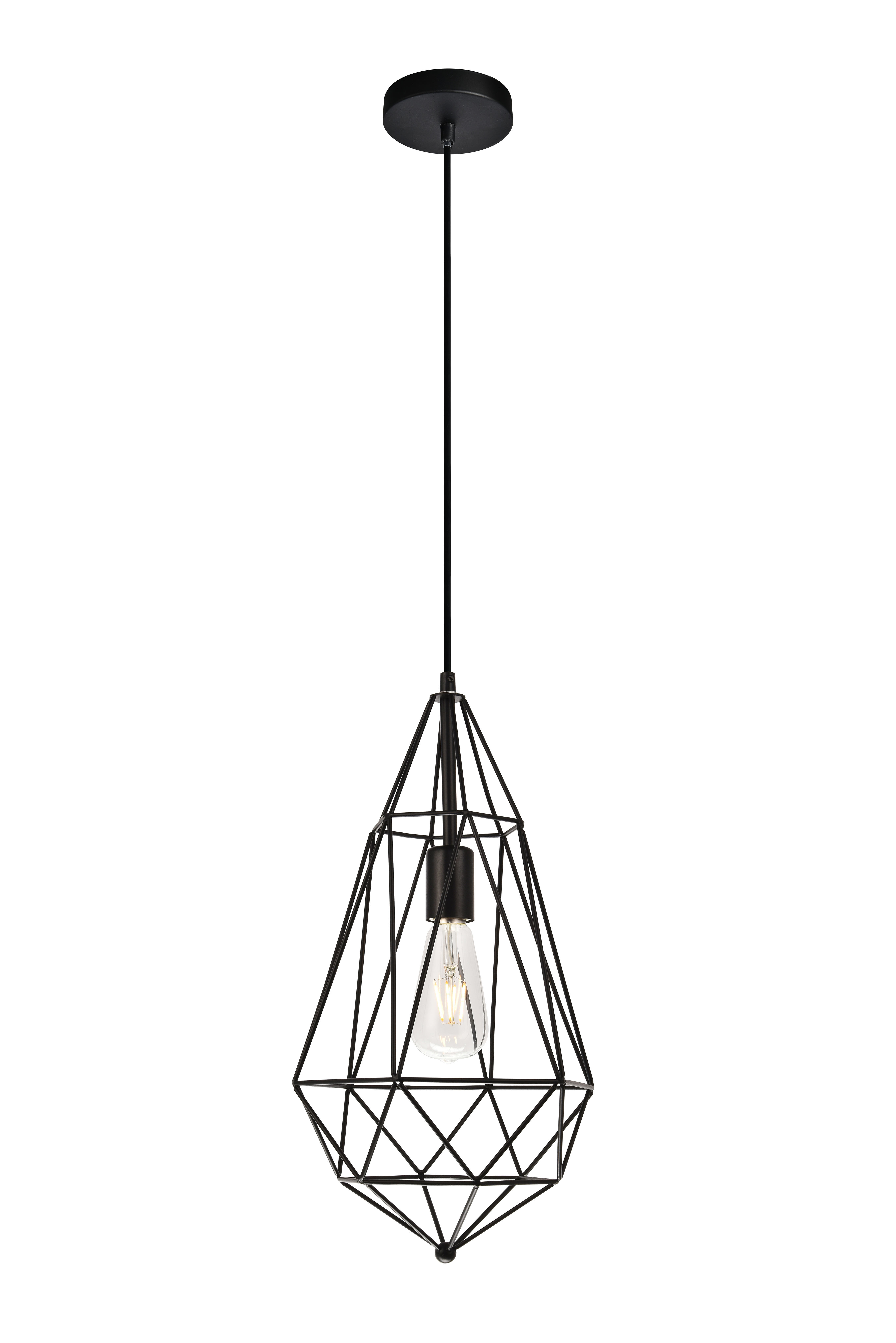 Finnick 1 Light Geometric Pendants With 2019 Wrought Studio Reinoso Traditional 1 Light Geometric Pendant (View 8 of 20)