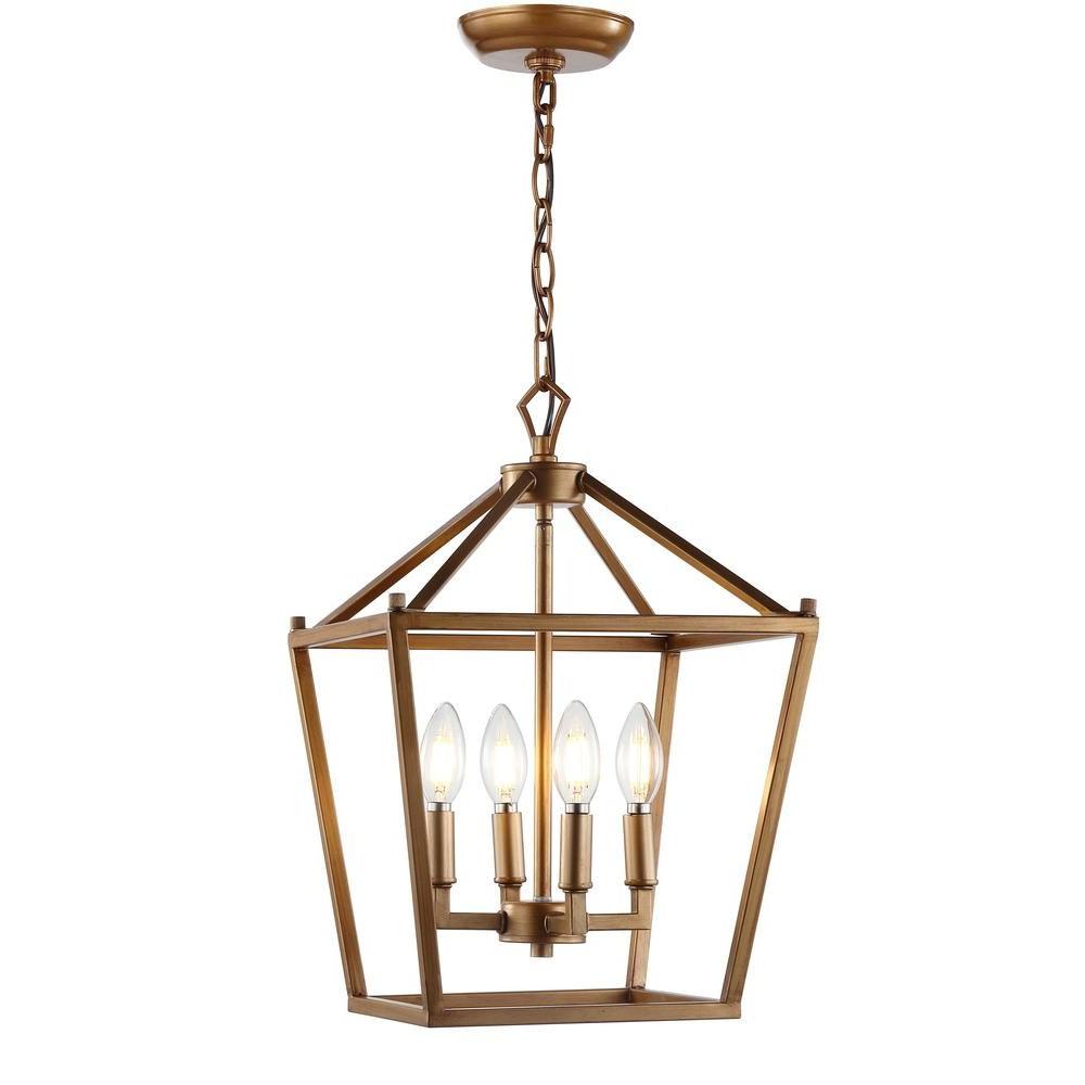 Finnick 3 Light Lantern Pendants Inside Well Known Jonathan Y Pagoda 12 In (View 7 of 20)