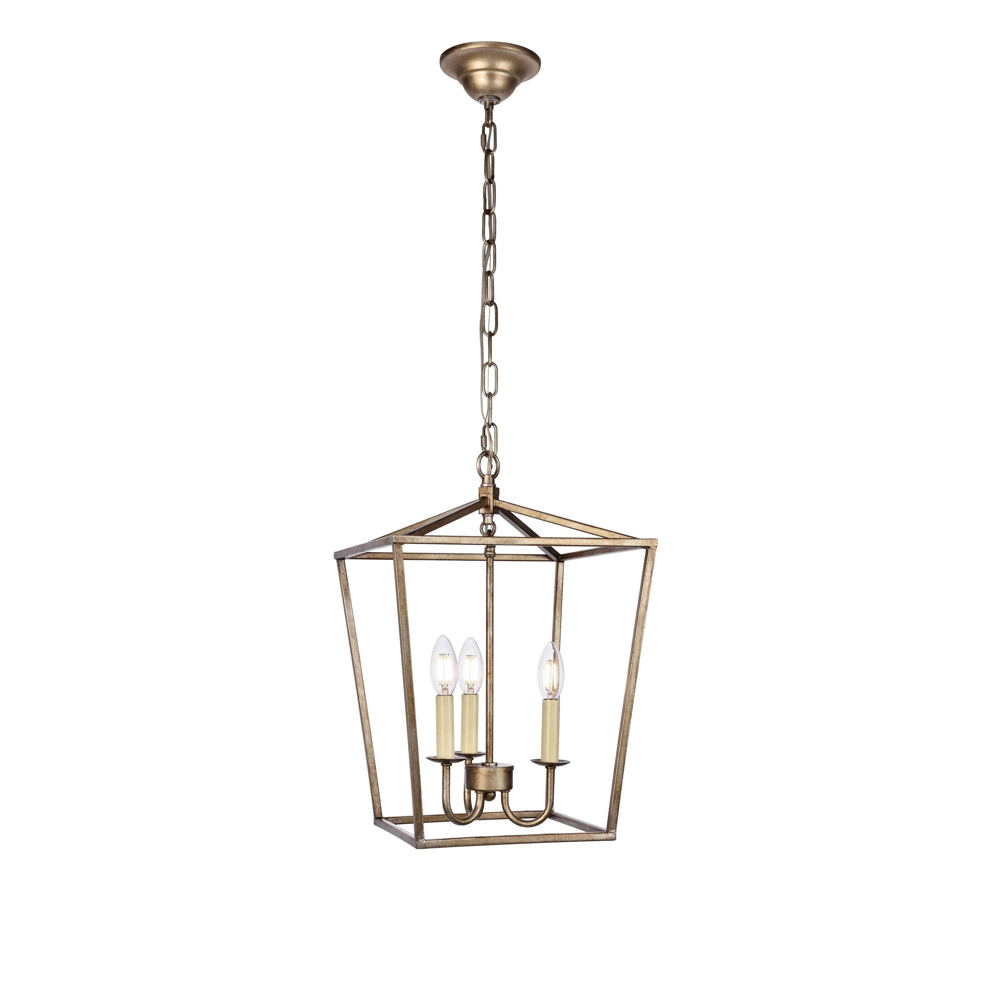 Finnick 3 Light Lantern Pendants Regarding Famous Elegant Maddox Collection Pendant D12.5 H18.25 Lt:3 Vintage (Gallery 14 of 20)