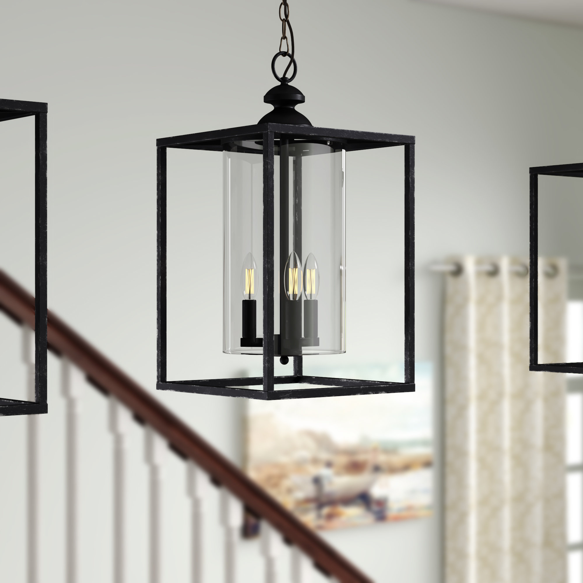 Finnick 3 Light Lantern Pendants With Most Current Didmarton 3 Light Square/rectangle Pendant (Gallery 11 of 20)