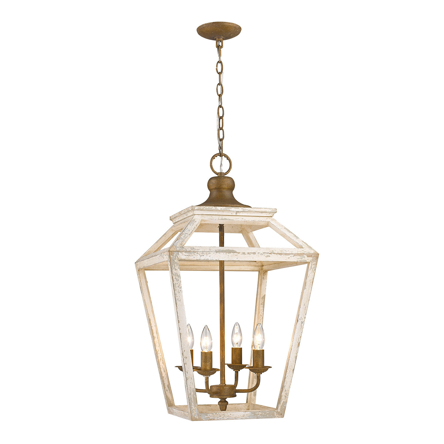Finnick 4 Light Foyer Pendants Regarding Widely Used Baugher 4 Light Lantern Geometric Pendant (View 9 of 20)