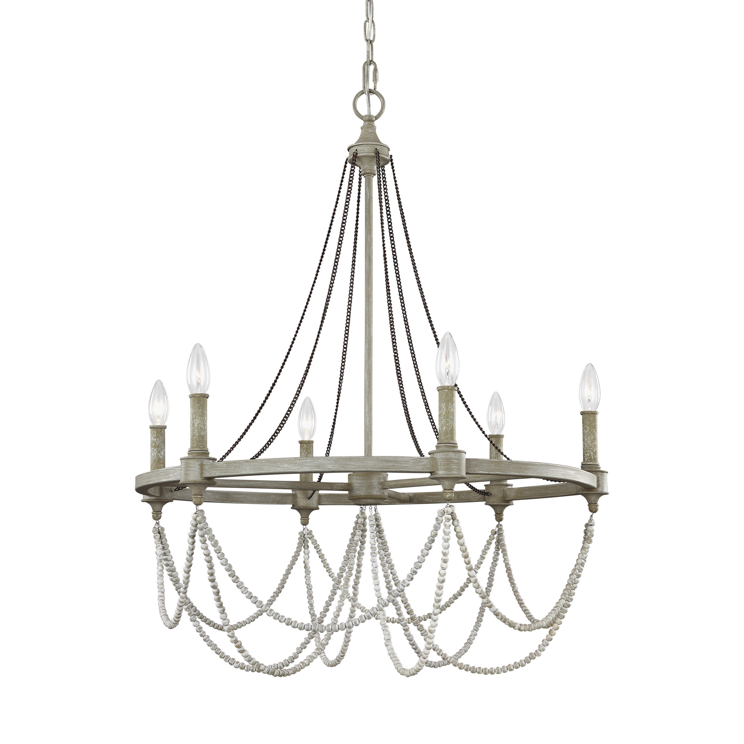 Fitzgibbon 6 Light Candle Style Chandelier For Famous Ladonna 5 Light Novelty Chandeliers (View 3 of 20)