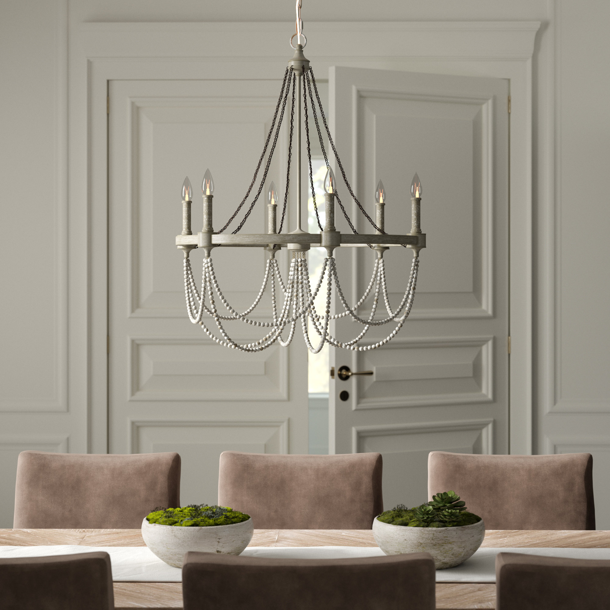 Fitzgibbon 6 Light Candle Style Chandelier For Newest Watford 6 Light Candle Style Chandeliers (Gallery 16 of 20)