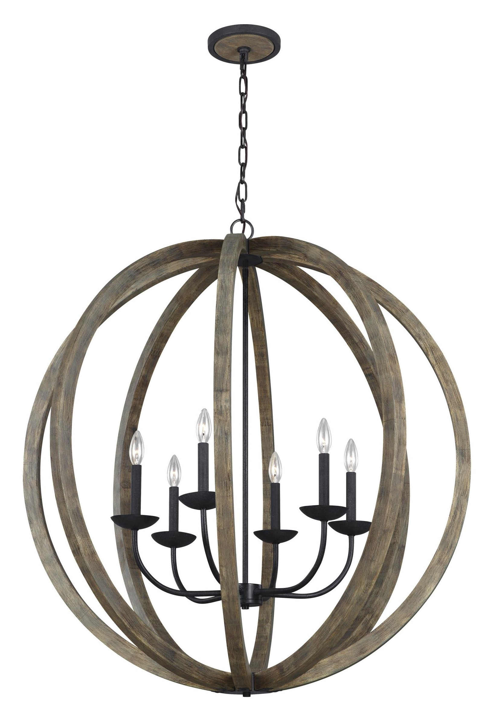 Flavien 6 Light Globe Chandelier For Most Current Ricciardo 4 Light Globe Chandeliers (View 5 of 20)