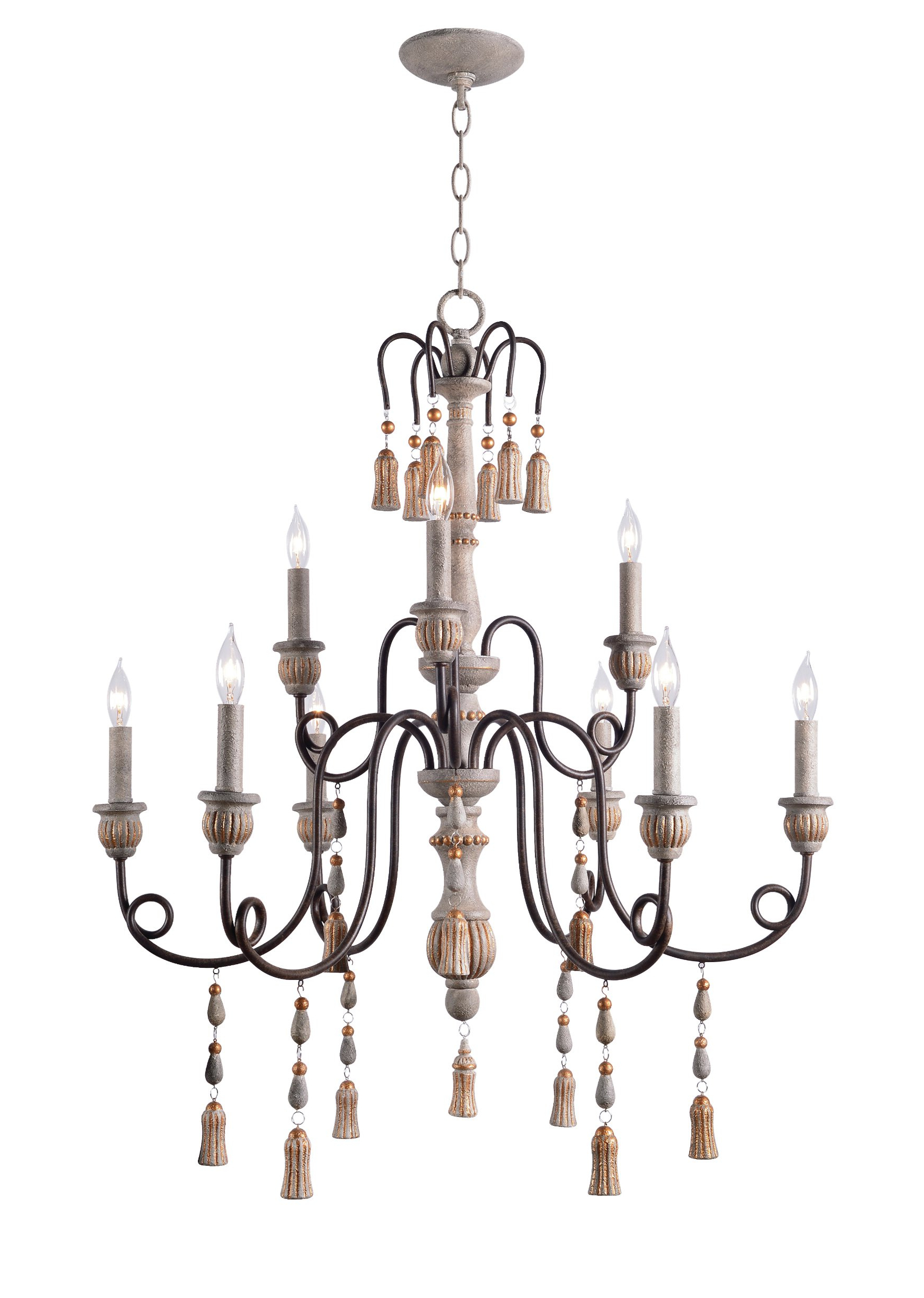 Florentina 5 Light Candle Style Chandeliers Regarding Most Recent Farmhouse & Rustic Ophelia & Co. Chandeliers (Gallery 19 of 20)